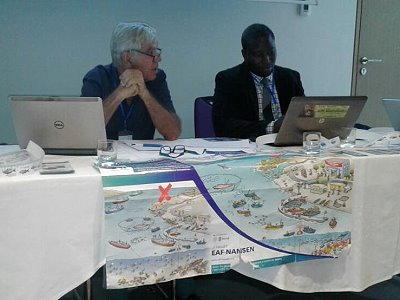 Jean Louis Sanka as co-chair of a thematic workshop during the PRCM Forum in Conakry