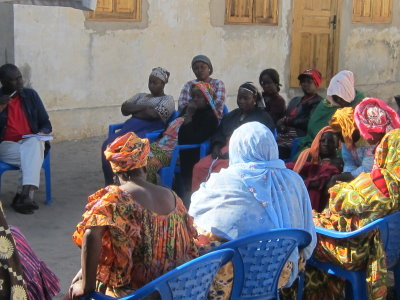 Members of the GIE PARASE constituted by women in Hann discuss their strategies for economic and social survival