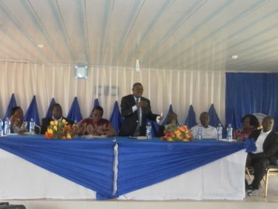 View of the high table of the World Oceans Day event at Akure