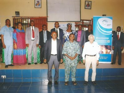 At the front row are (from the left) Prof. Eyo E. Antai (HOD), Biological Oceanography Department, Prof. Francis Nwosu of the Biological Oceanography Dept, Faculty of Oceanography and Prof. Sieghard Holzlohner of the Institute of Oceanography, UNICAL