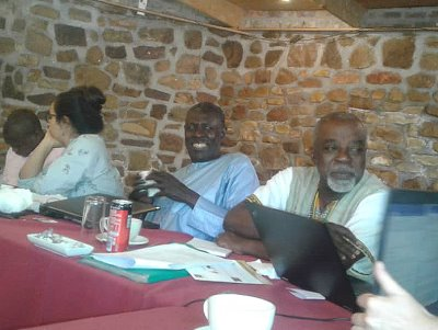 Aliou Sall (middle) at the workshop