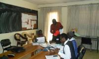 Group work analysing teaching aids - teachers from Kayar