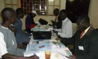 Group work to analyse the teaching aids - teachers from Hann