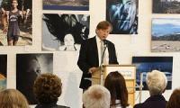 Mr. Rädisch, Director of Helmholtz-Gymnasium Hilden (HGH), addresses the audience