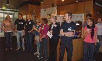 Equipo de organisación de YOUMARES 2.0 en ocasión de la recepción de bienvenida, il 7 de septiembre de 2011, Museo Marítimo Alemán, Bremerhaven